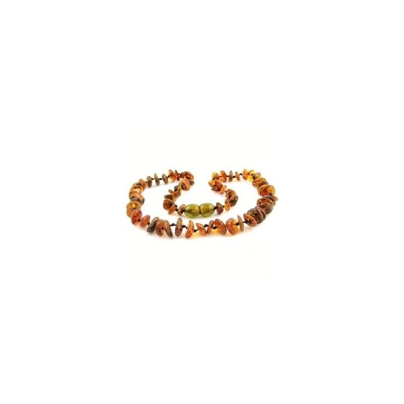 Collana dentizione in ambra baltica da bambino