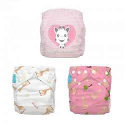 kit 3 pocket Sophie pink -...